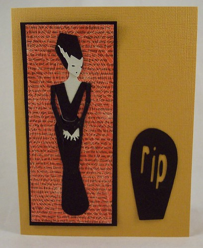 Cricut Bride of Frankenstein Card