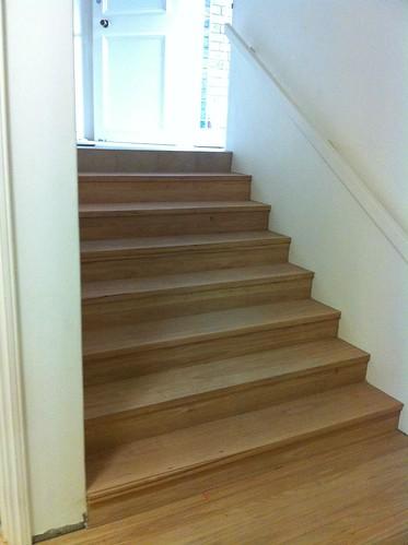 Hartholz auf Treppen