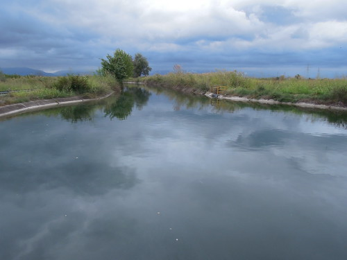 blue trees green water grass reflections landscape canal nikon greece macedonia reflect p300 loutros