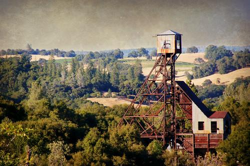 california ca trees usa landscape mine goldrush headframe goldmine jacksoncalifornia