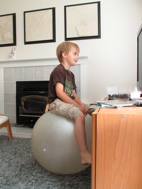 Balance ball.