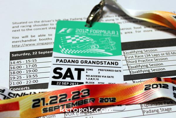 2012 Formula 1 Singtel Singapore Grand Prix