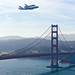 DSC03597 - Space Shuttle Endeavour over San Francisco's Golden Gate Bridge by loupiote (Old Skool) pro