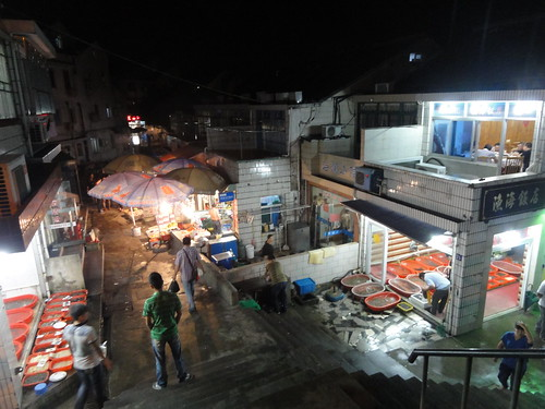 Village on Putuoshan, every house turns into a seafood restaurant at night