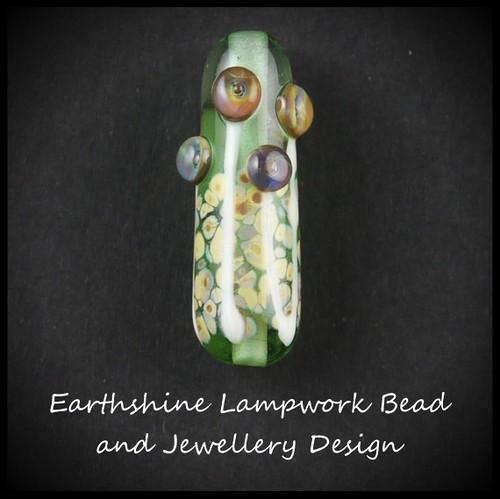 Floral Lampwork Bead