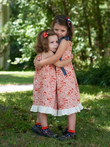 Sisterly hugs