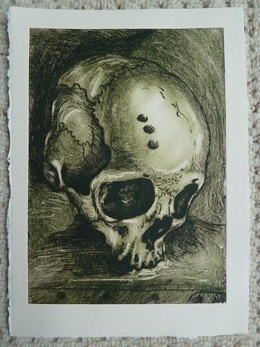 Skull: drypoint