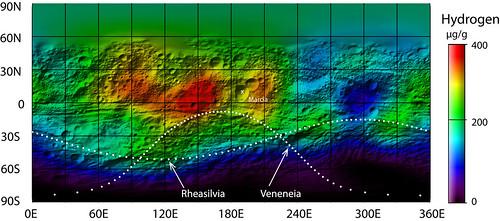 Hidrógeno en Vesta