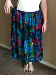 Fluttery Floral Skirt-to-Dress Refashion - Before