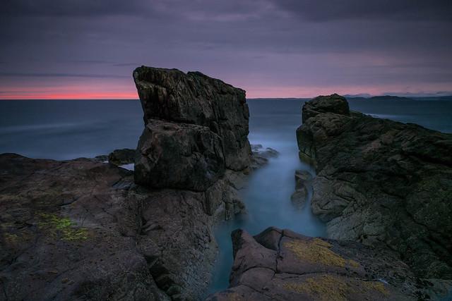 A Post Sunset Seascape ..