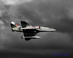 TA-4J SKYHAWK IN LIVING COLOR BELOW GREY OVERCAST