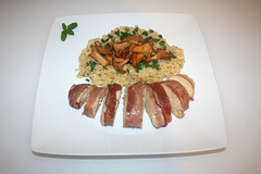 44 - Chicken filet in ham coat with goat cheese ri…
