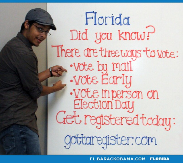 There are three ways to vote in Florida.