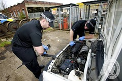 Day 227 - West Midlands Police - Operational Support Unit conducting vehicle search