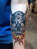 skull flames tattoo tattoo by John