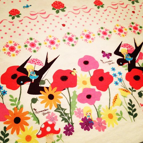Sewing with the cutest fabric ever.