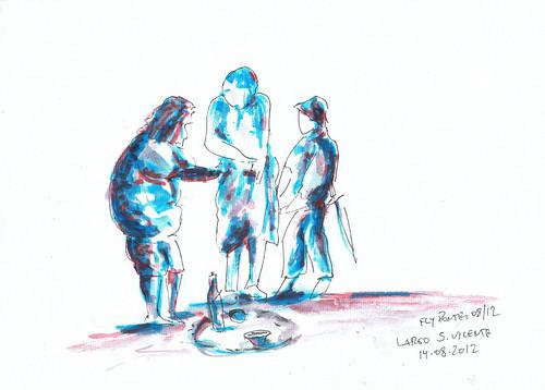 2012-08-14 Joice Brondani & Veronica Risatti - Performance de teatro À Sombra De Diógenes 02