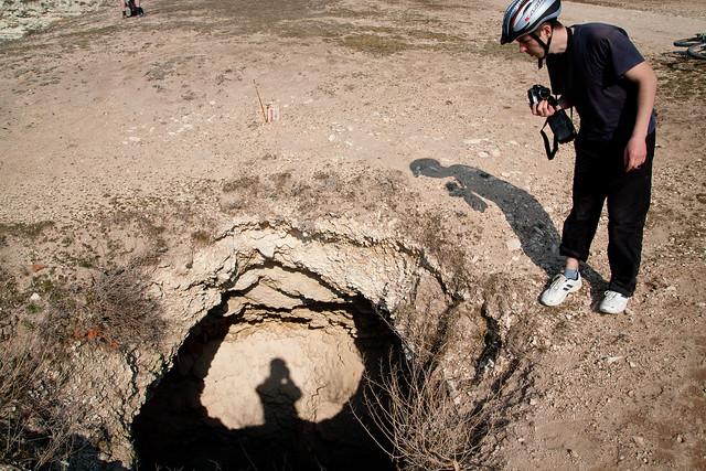 Hole on the ground