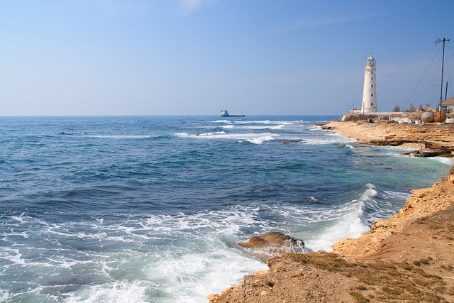 Lighthouse by the sea