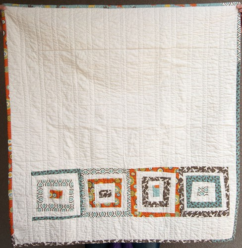 Baby Quilt Wonky Log Cabin Side