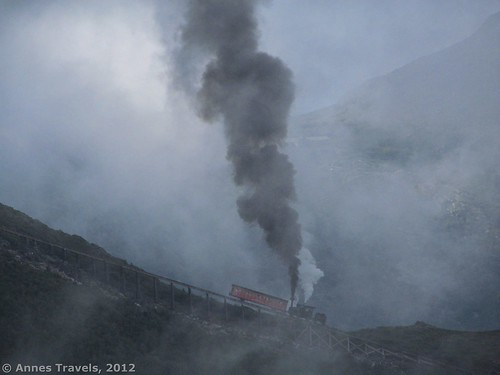 The steam train on Jacob's Ladder, Cog Railway, White Mountain National Forest, New Hampshire