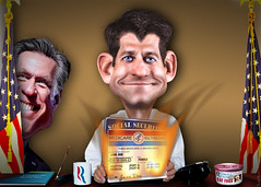 Romney Ryan Plan for Medicare and SSI by DonkeyHotey