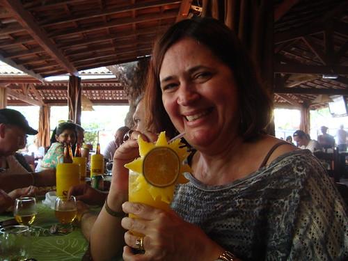 Praia do Forte Bahia!  PAP da Flor de fruta! Um Girassol! by Verachitta