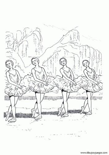 bailarinas para colorear