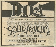 08/23/85 DOA/Soul Asylum @ Cedar Riverside People's Center, Minneapolis, MN