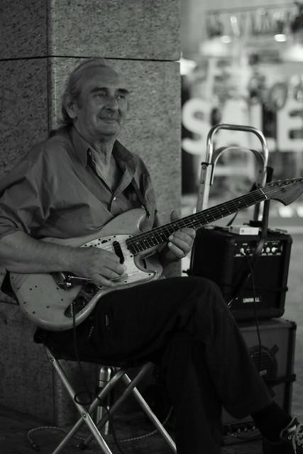 Bluesman on the street. Athens, Aug 2012. 07-018