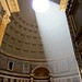 The Pantheon and the ray of divine light