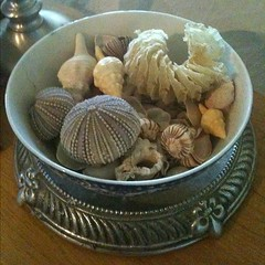 A bowl of shells or other #organic touches bring in inspiration from #nature