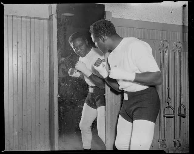 Unidentified African-American boxer
