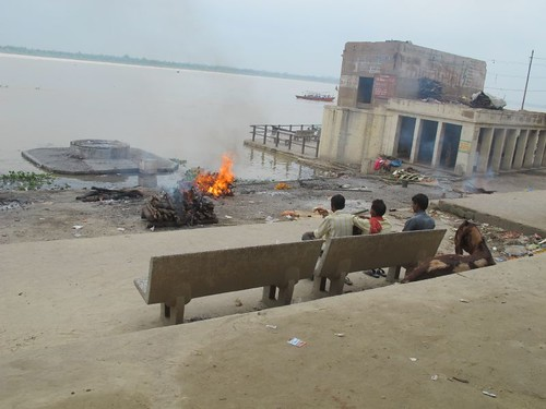 a small burning ghats