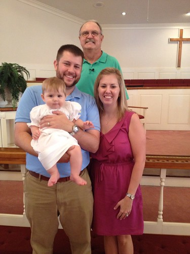 Pastor John, Adam, Sara and Leah Grace Waters