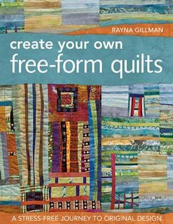 Create your own free-form quilts book cover