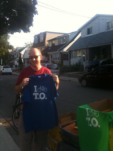 I Bike T.O. Shirt Delivery!