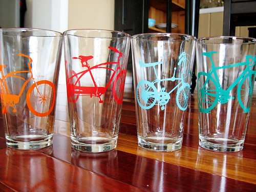 bike glass cups