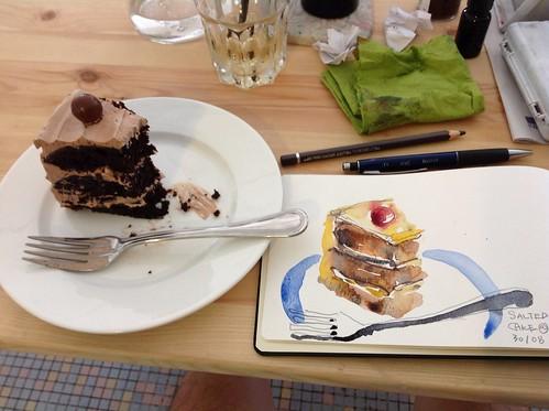 Salted Caramel cake @ Viridian House