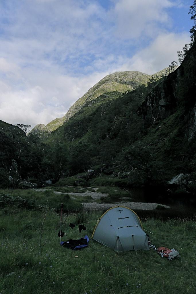 Wild camping below Ben Aden