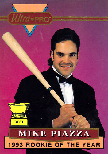 Baseball Card Bust Mike Piazza 1993 Ultra Pro