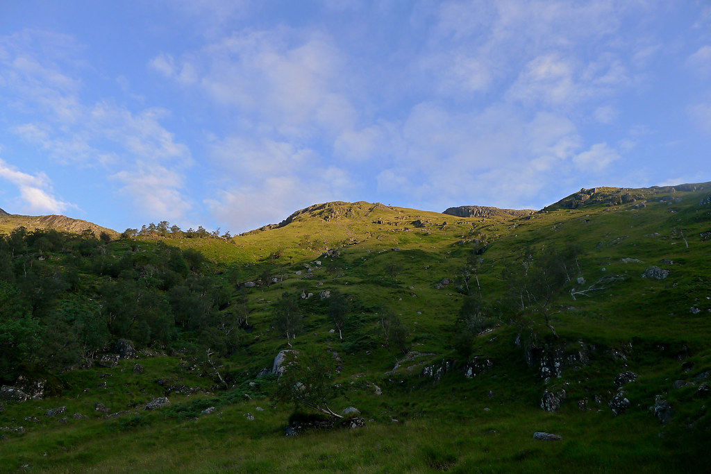 Morning light catches the Knoydart hills