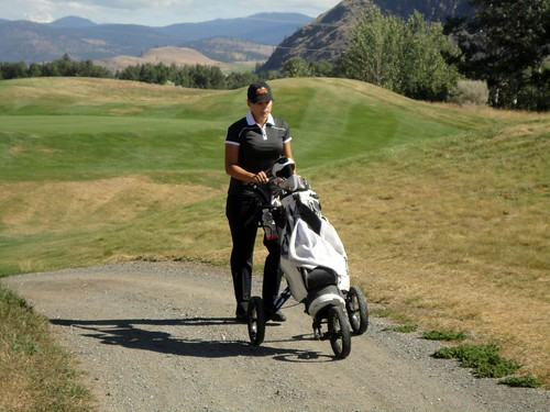 Natasha Mackenzie and her golf cart (Aug 31,2012)