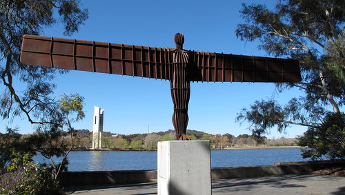 "Antony GORMLEY ""Angel of the North"" in Canberra 1996"