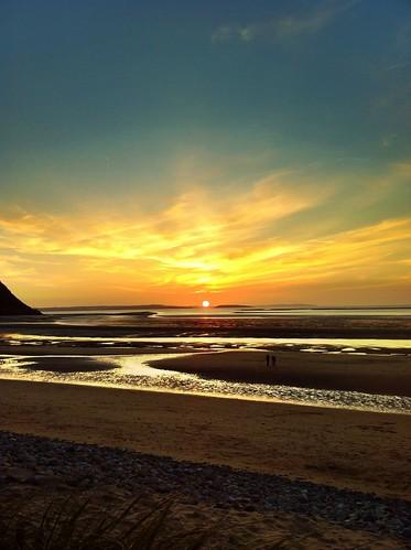 無料写真素材, 自然風景, 朝焼け・夕焼け, ビーチ・海岸, 風景  イギリス