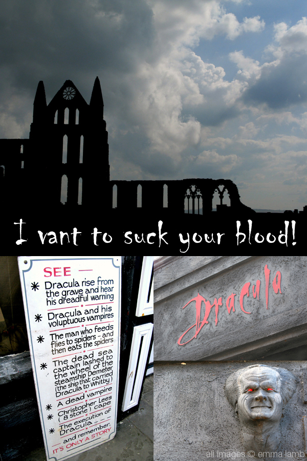 Literary links: in Bram Stoker's novel Dracula the vampire sailed to Britain and landed in Whitby | Emma Lamb