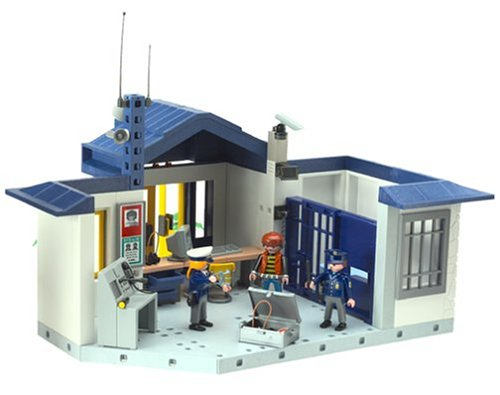 Playmobil rescue police station with jail cell flickr photo