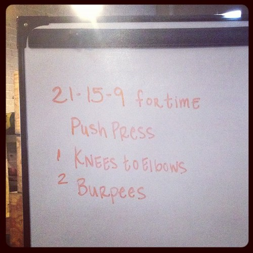 This wasn't as easy as at looked. #wod  #crossfit