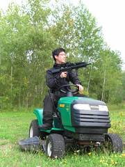 outdoor power equipment, riding mower, vehicle, tool, mower, lawn mower, all-terrain vehicle, lawn, land vehicle,