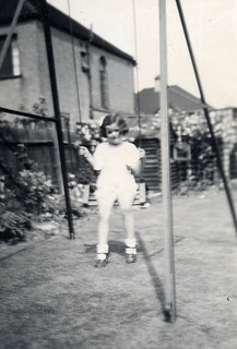 In the garden on my swing